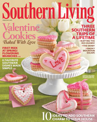 'Southern Living' February 2010 cover